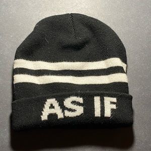 'As If' beanie